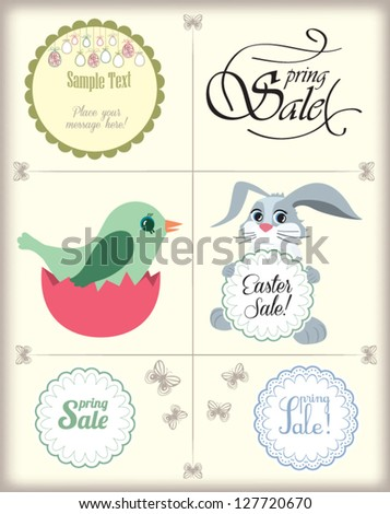 Easter and Spring page design elements - vector set