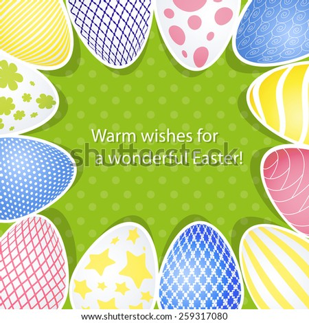 Easter background and Easter egg - stock vector