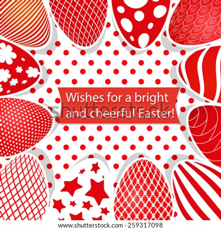 Easter background and egg - stock vector