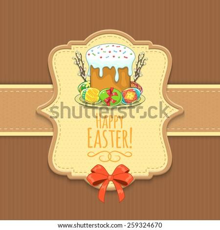 Easter background. Holiday backdrop for card design. Eps 10 vector illustration. - stock vector
