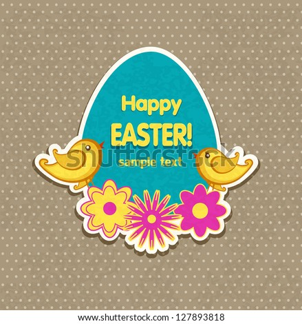 Easter background vector - stock vector