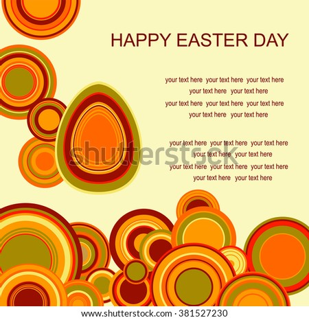 Easter background with eggs and place for text. Happy easter pattern.