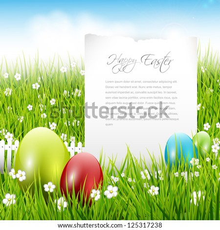 Easter background with place for text - stock vector