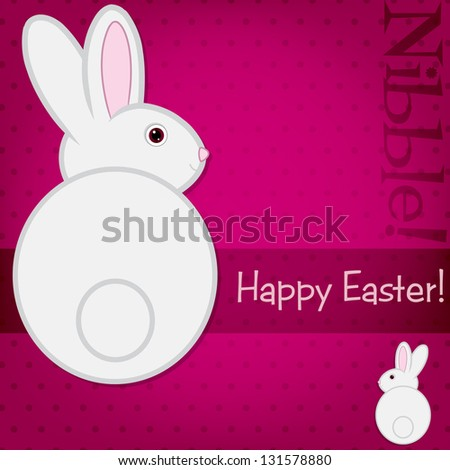 Easter bunny card in vector format. - stock vector