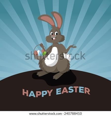 Easter bunny design stock illustration - stock vector