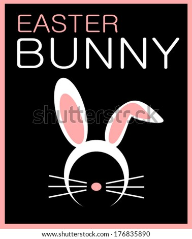 easter bunny design with ears and whiskers - stock vector
