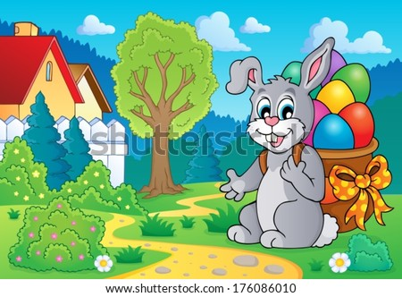 Easter bunny theme image 7 - eps10 vector illustration.