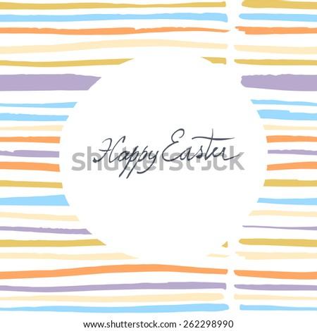 Easter Card Design. - stock vector