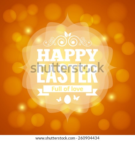 easter card lights background - stock vector