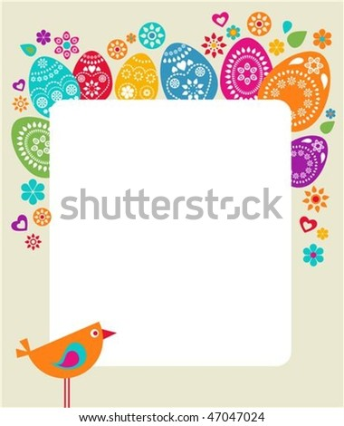 Cute Easter Template Stock Images RoyaltyFree Images  Vectors