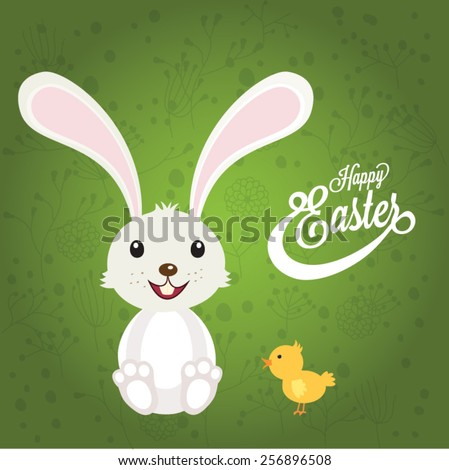 Easter card. Vector illustration - stock vector