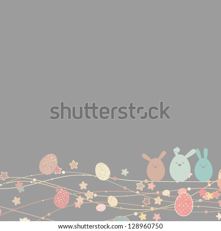 Easter card with copy space. And also includes EPS 8 vector - stock vector