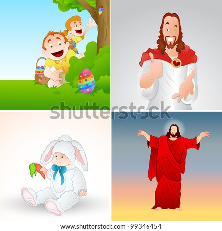 Easter Characters - stock vector