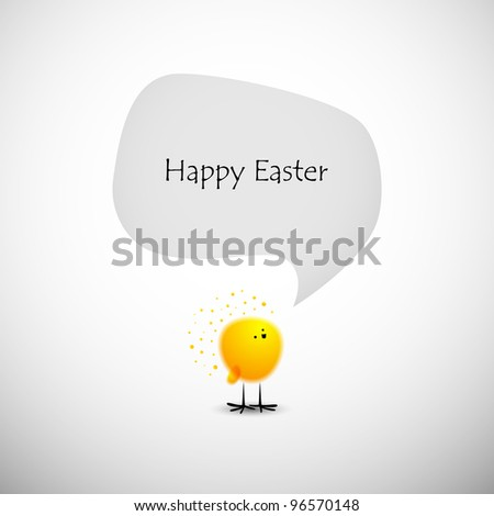 Easter chicks, eps10 - stock vector