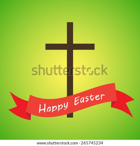 easter christian motive, vector illustration, - stock vector