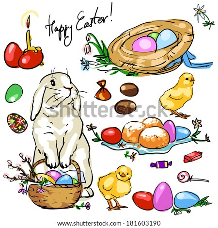 Easter Collection.  - stock vector