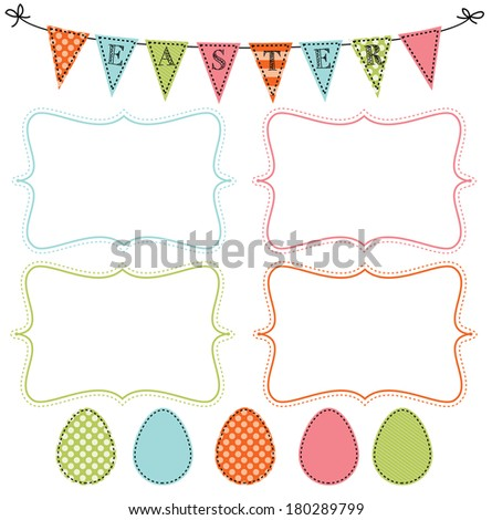 easter design template four 4 x 6 frames stock vector 180289799