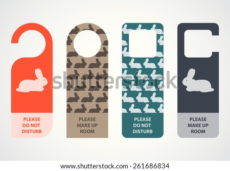 Easter door knob, do not disturb - stock vector