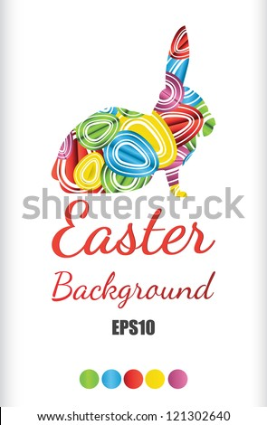 easter egg background illustration - stock vector