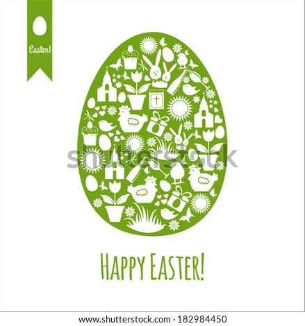Easter egg card.