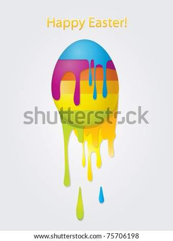 easter egg card, eps10 - stock vector