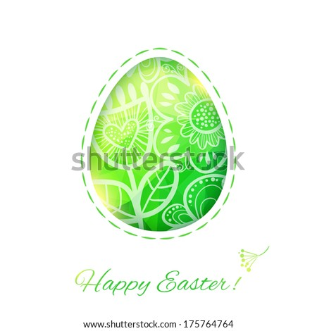 Easter Egg card with flower.