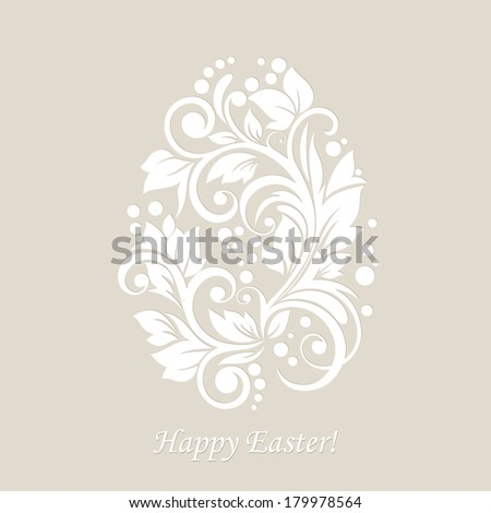 Easter egg floral background.
