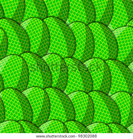 Easter Egg from the scales pattern seamless, vector illustration in eps10