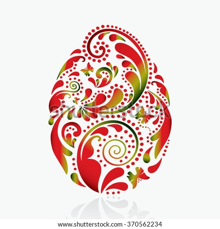 Easter egg on a white background. Isolated photo. - stock vector
