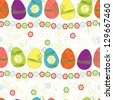 Easter egg pattern seamless background - stock photo