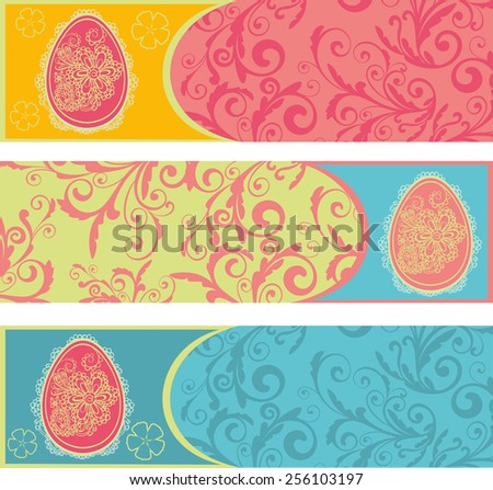 Easter egg seamless vector background