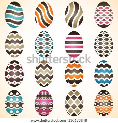 Easter eggs - stock vector