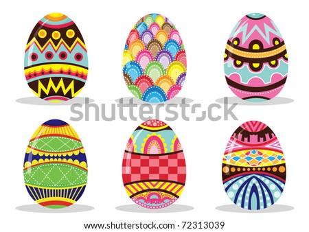 Easter Eggs - stock vector