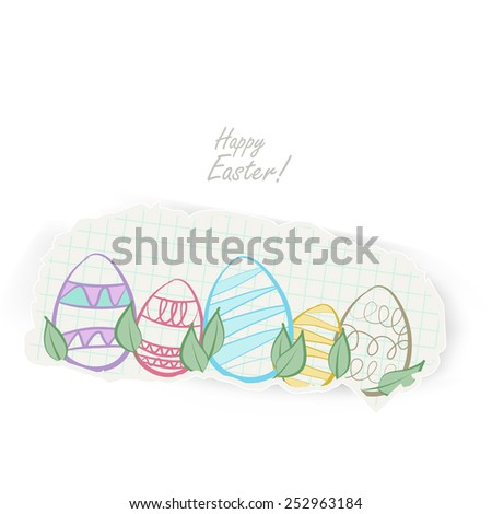 easter eggs background - stock vector