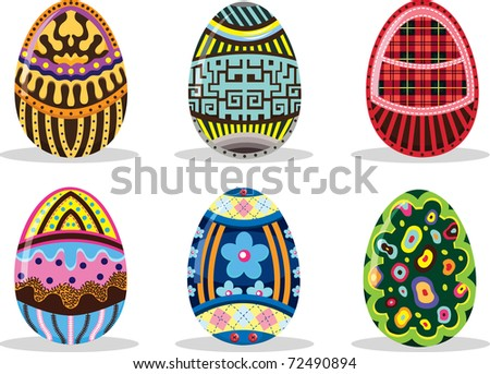 Easter Eggs Collection - stock vector