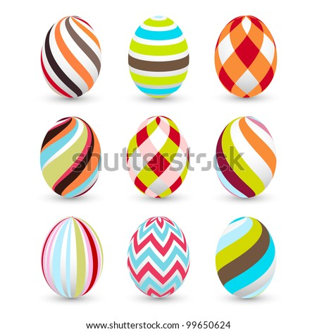 easter eggs, happy easter - stock vector