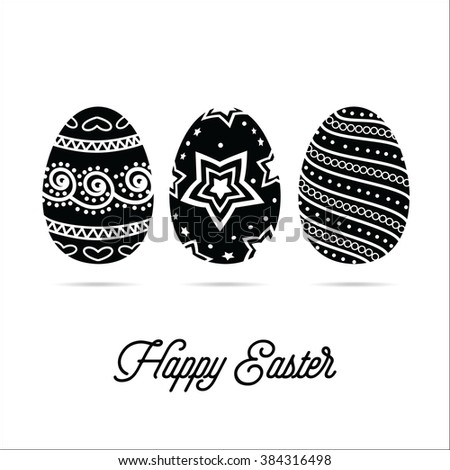 Easter Eggs. Holiday Greeting Card.