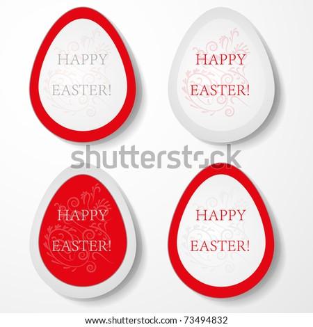Easter eggs labels. Vector illustration. - stock vector