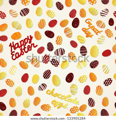 Easter eggs seamless pattern. Vector Illustration, eps 10, contains transparencies. - stock vector