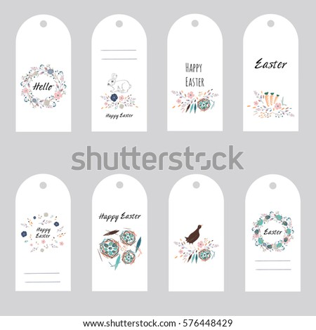 Easter gift tags labels cute flowers stock vector 576448429 easter gift tags and labels with cute flowers eggs bird and rabbit negle Choice Image