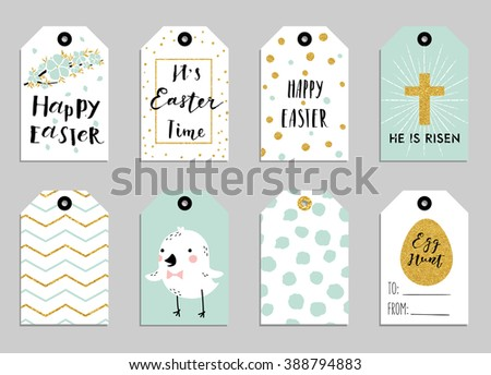 Easter gift tags cute easter bunny stock vector 388794883 shutterstock easter gift tags with cute easter bunny watering can with flowers and easter greetings negle Choice Image