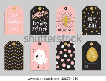 Easter gift tags cute easter bunny stock vector 388794910 easter gift tags with cute easter bunny watering can with flowers and easter greetings negle Gallery