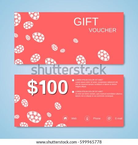 Easter eggs set stock illustration 123196753 shutterstock easter gift voucher vector design template negle Choice Image