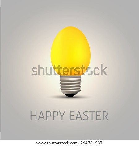 Easter gold egg with bulb thread - Vector illustration
