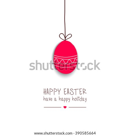 Easter greeting card.Vector - stock vector