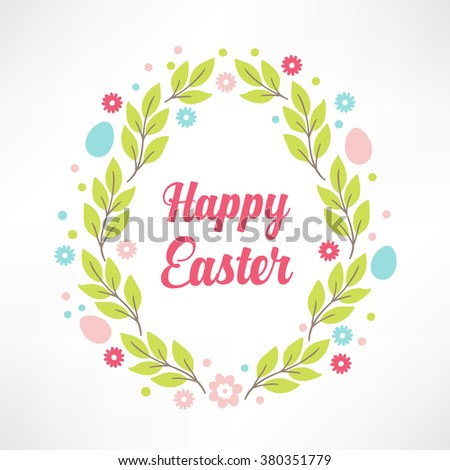 Easter greeting card floral frame egg stock vector 380351779 easter greeting card with floral frame in egg shape perfect for season greetings and spring m4hsunfo