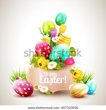Easter Card Images RoyaltyFree Images Vectors – Easter Greeting Cards