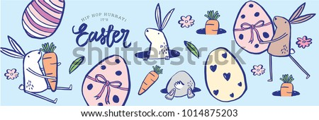easter greeting template vector/illustration