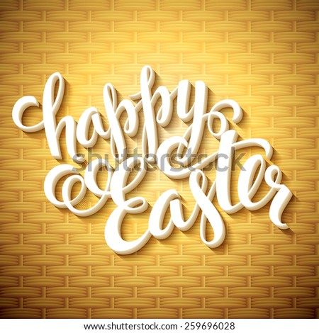 Easter greeting with eggs. Vector illustration - stock vector