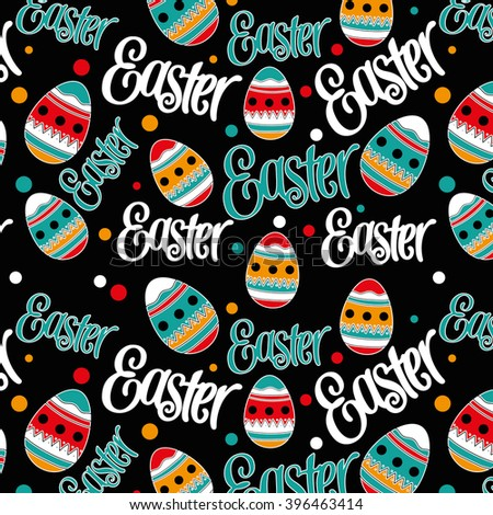 Easter hand drawn pattern